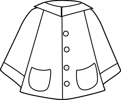 500x413 Black And White Raincoat Clip Art Weather Raincoat