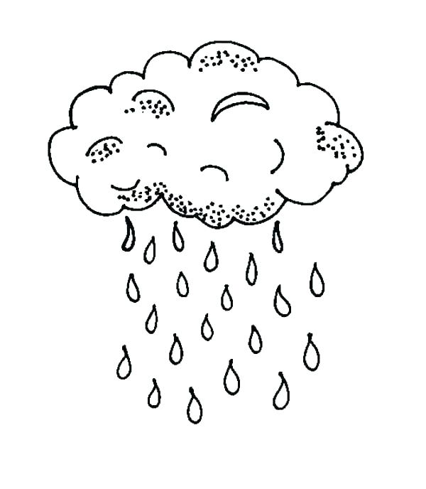 600x688 Raindrop Coloring Page Cloud Coloring Pages Rain Drop Coloring