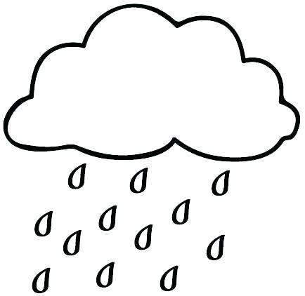 434x422 Raindrop Coloring Page Rain Drop Coloring Page Drawing Cloud