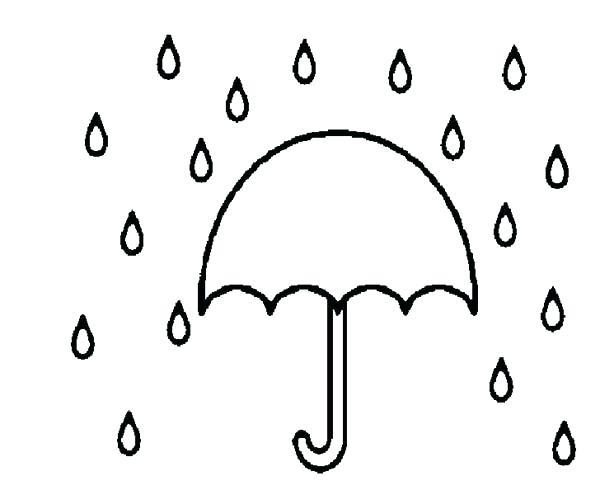 600x490 Raindrop Coloring Page Raindrops Coloring Pages Raindrop Umbrella