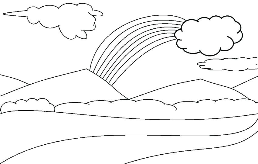 850x543 Raindrops Coloring Pages Clouds Coloring Page Printable Cloud