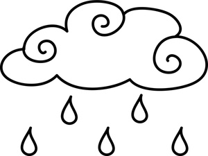300x225 Best Photos Of Clouds With Raindrops Coloring Book
