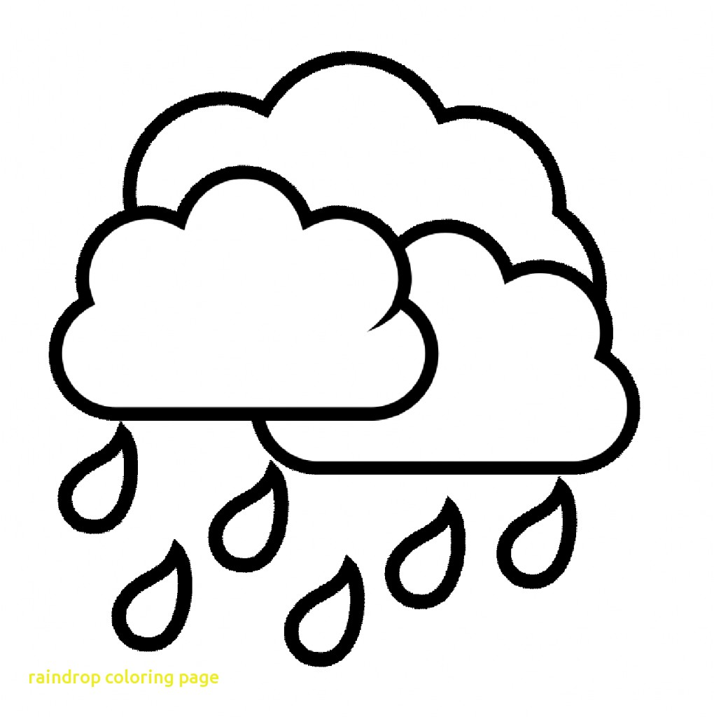 1020x1024 Water Drop Clipart Coloring Page Pencil And In Color Best Raindrop