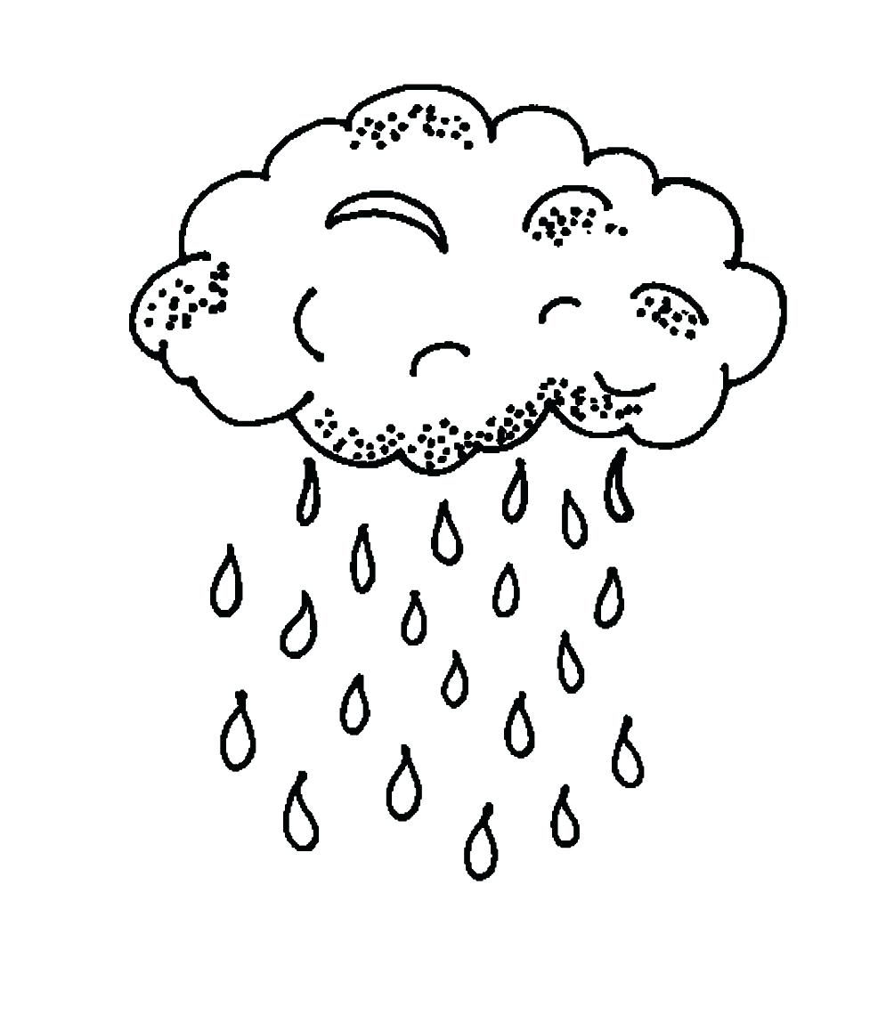 995x1140 Coloring Page Raindrop Coloring Page Pages Of Clouds Master