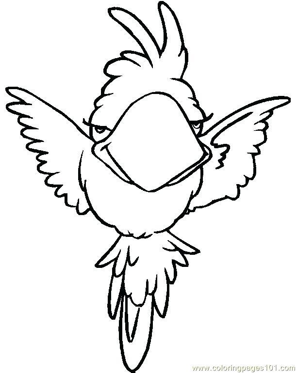 612x770 Parrot Coloring Pages Parrot Coloring Pages Printable Rainforest
