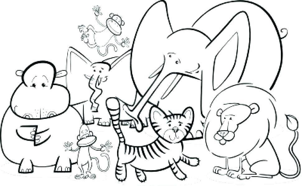 970x599 Printable Jungle Animal Colouring Pages Animals Coloring All