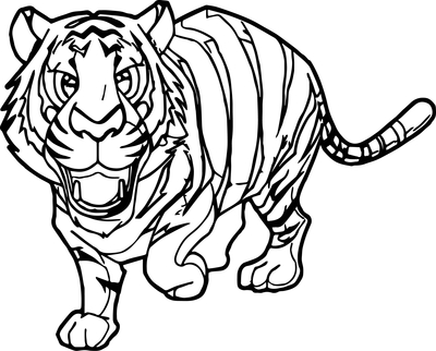400x322 Tiger Coloring Pages Page Image Clipart Images