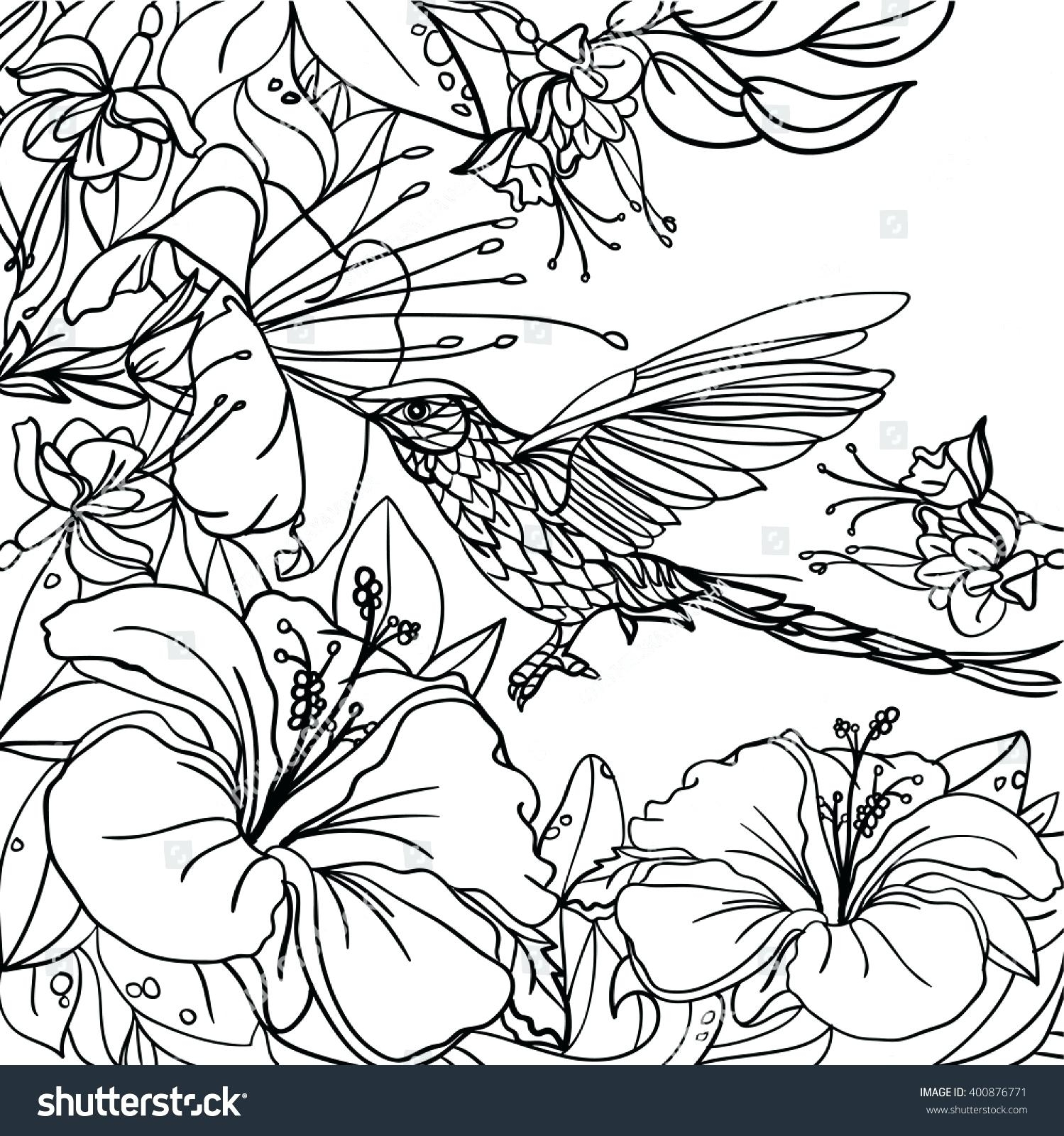1499x1600 Tropical Flower Coloring Pages To Print Coloring For Kids