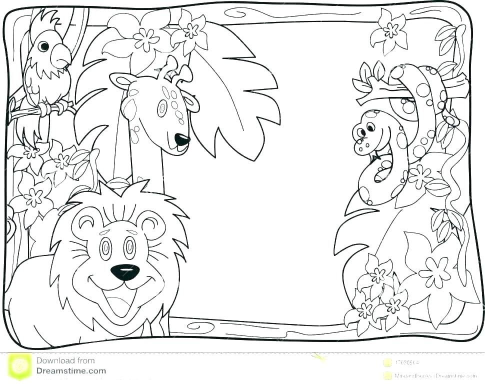 970x772 Coloring Pages Of Animals In The Rainforest Coloring Pages