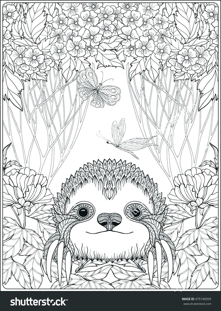 736x1035 Forest Coloring Page Enchanted Forest Coloring Pages In Tiny Page