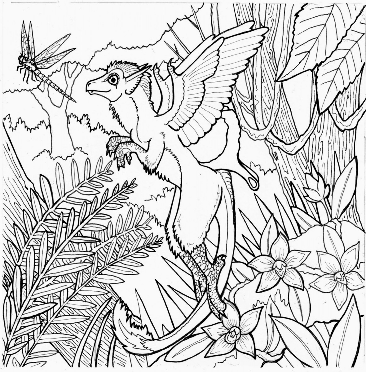 1181x1200 Miracle Rainforest Coloring Pages To Print Fre