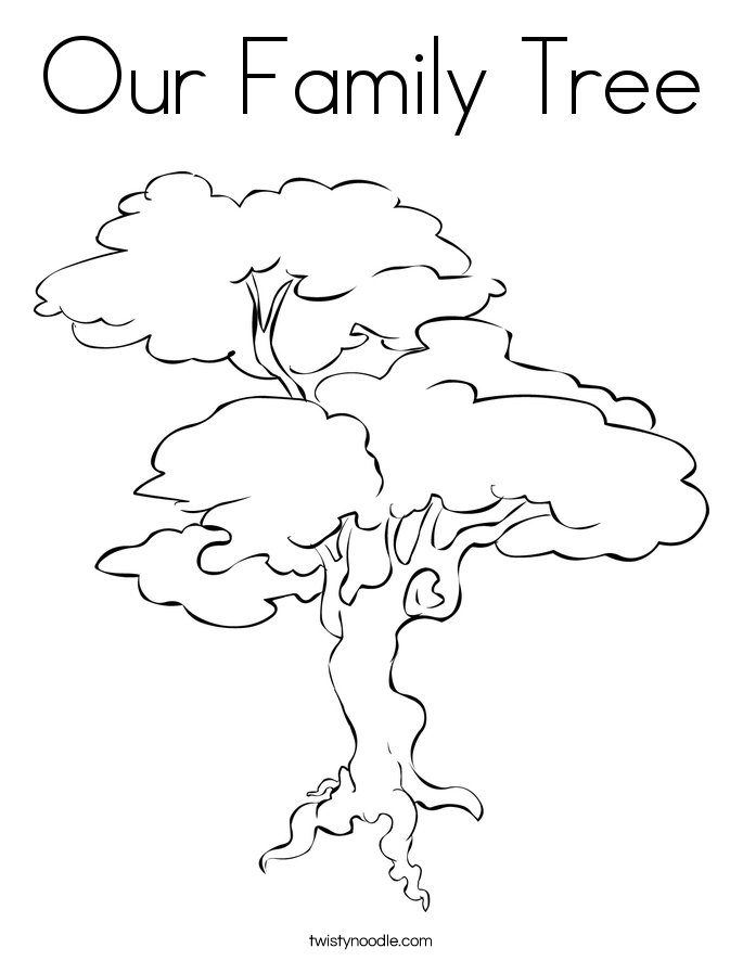 685x886 Our Family Tree Coloring Page
