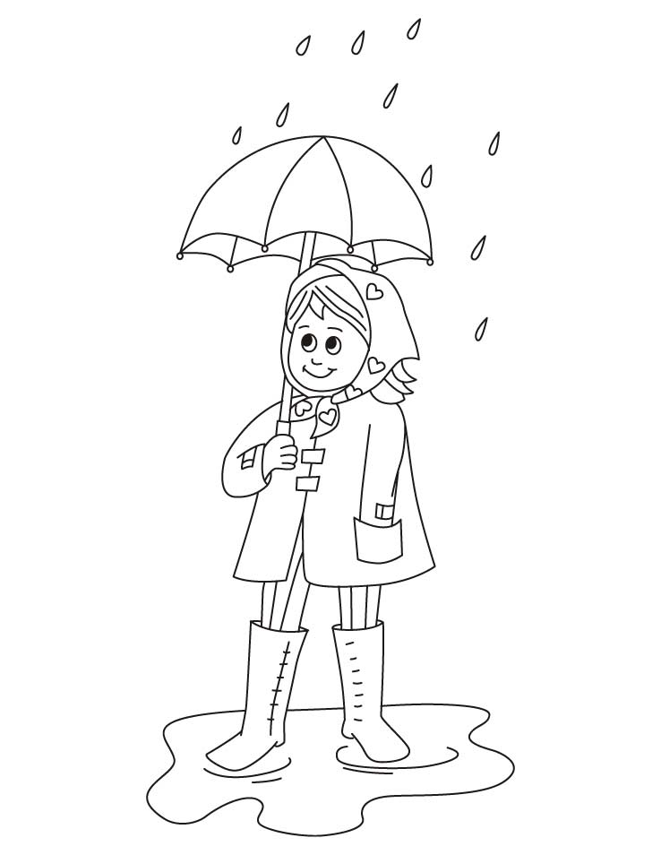 738x954 Rainy Clothes Drawing