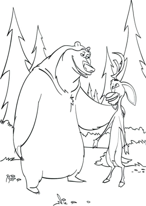 600x846 Season Coloring Pages And Are Best Friend In Open Season Coloring