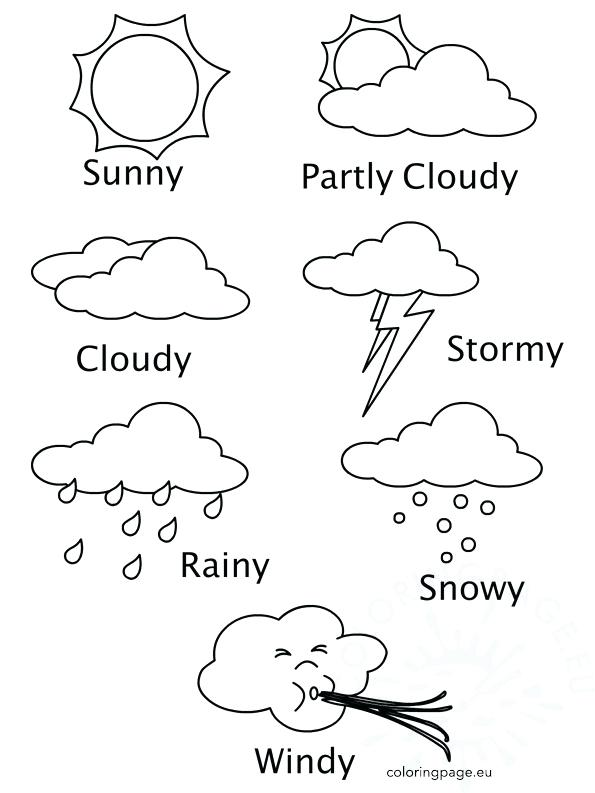 595x793 Weather Coloring Pages Weather Coloring Pages Amazing Weather