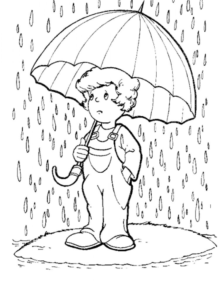 758x960 Rain Coloring Pages Rain, Painting