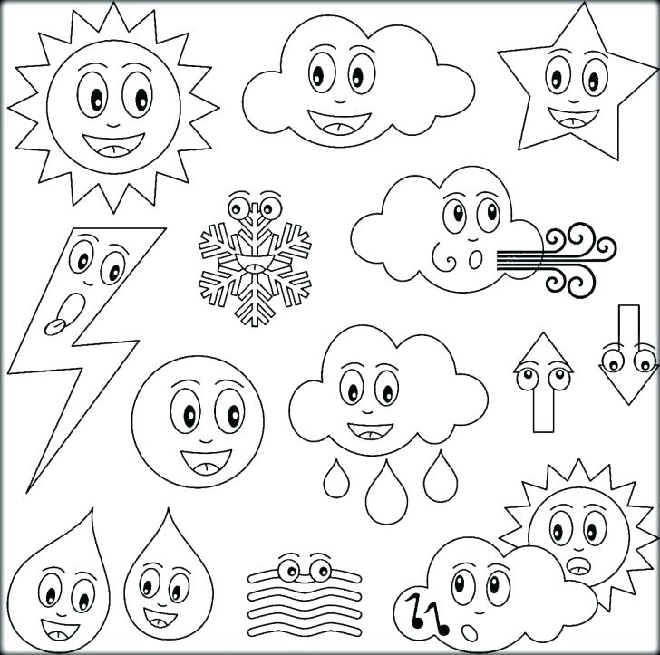 728x723 Weather Coloring Page Rain Coloring Page Weather Coloring Pages