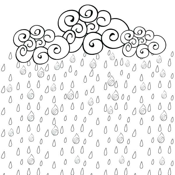 600x600 Weather Coloring Page Weather Coloring Pages For Kindergarten Rain