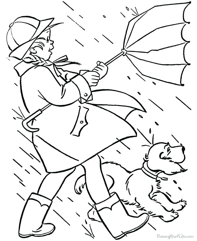 670x820 Weather Coloring Pages Rainy Day Coloring Sheets Inspirational
