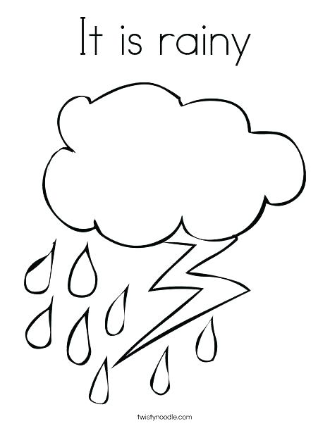 468x605 Weather Coloring Pages Rainy Day Pictures To Color Cloudy Weather