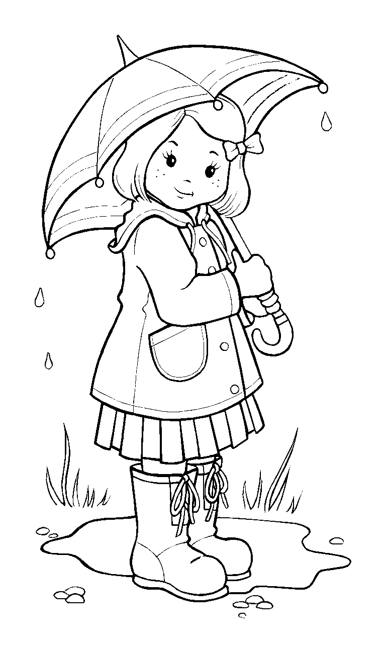 768x1299 Rainy Weather Coloring Pages To Coloring Page Girl
