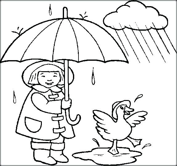 575x541 Inspirational Rainy Day Coloring Pages Preschoolers