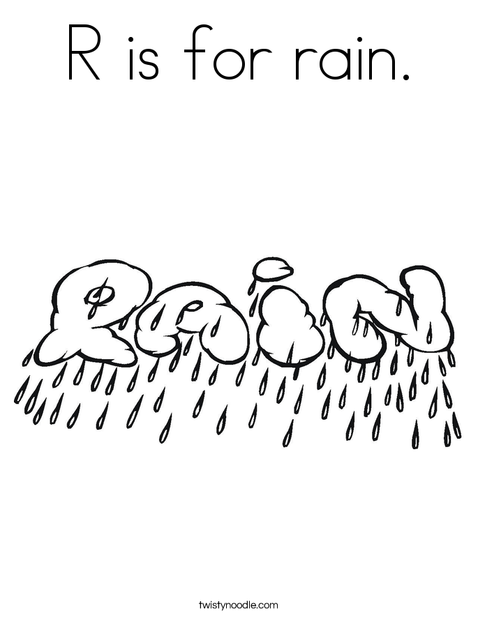 685x886 R Is For Rain Coloring Page