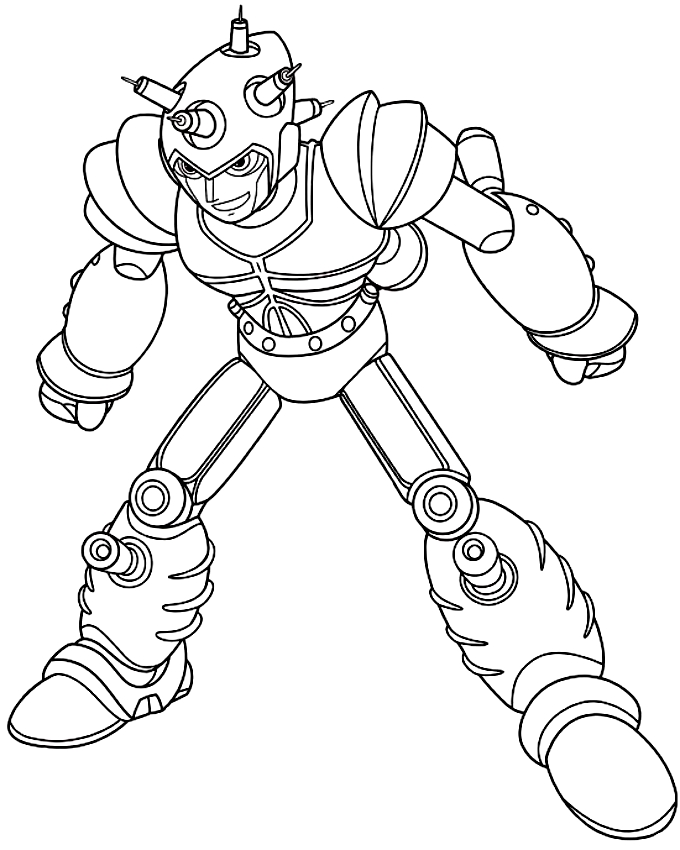 680x850 Drawing Atlas The Evil Robot Built