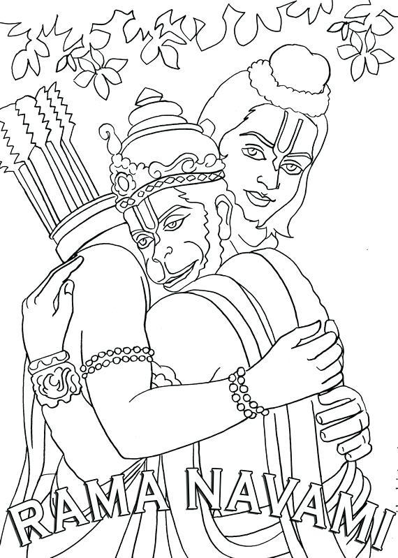 570x799 Hanuman Coloring Pages Ram Coloring Pages Bal Hanuman Coloring