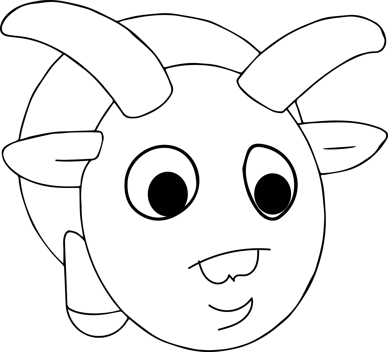 5399x4901 Amazing Cartoon Ram Animal Coloring Page Wecoloringpage Image