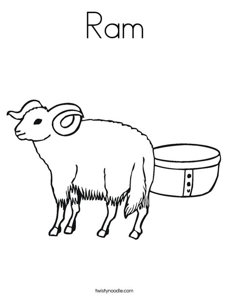 468x605 Ram Coloring Page