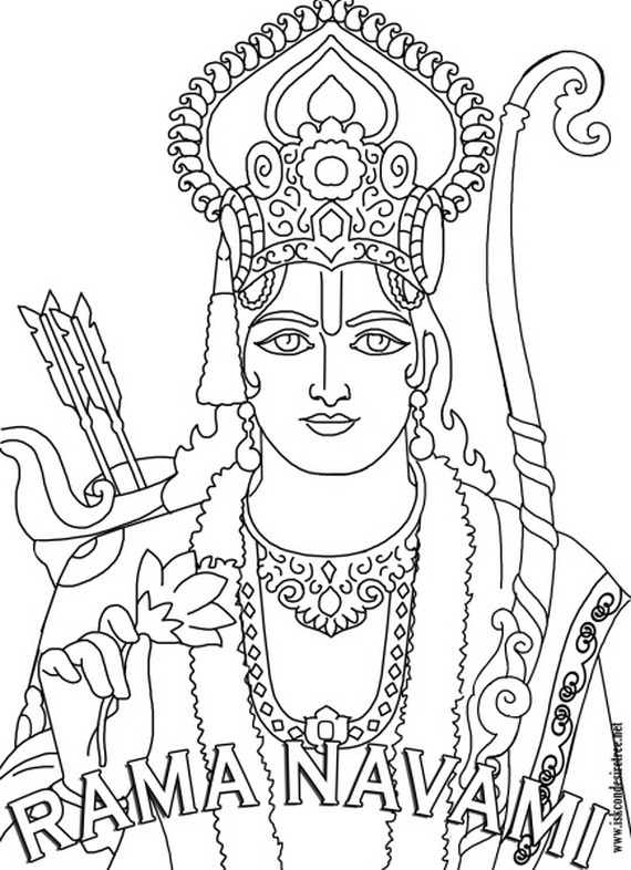 570x786 Ram Navami Coloring Pages
