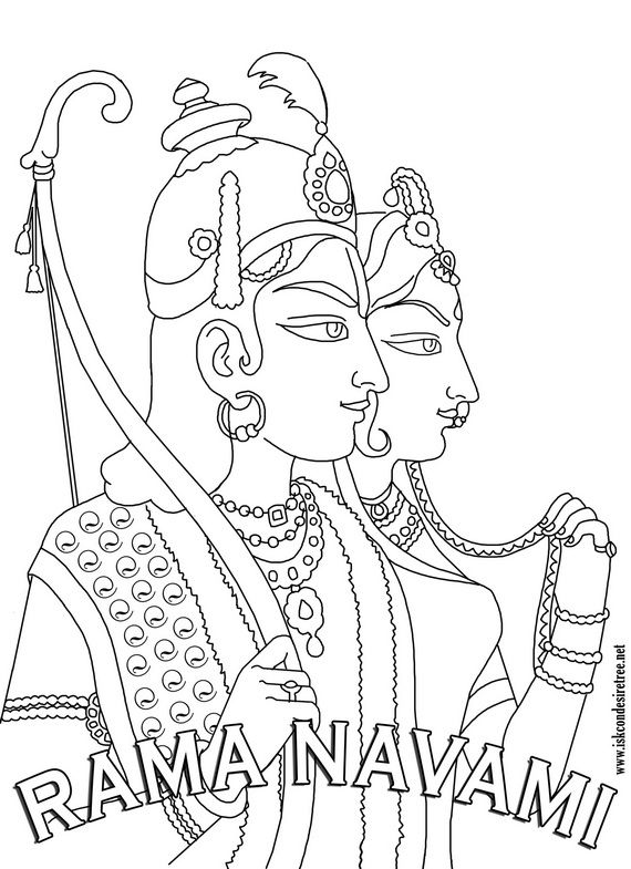 570x785 Ram Navami Coloring Pages Coloring Pages Sketches