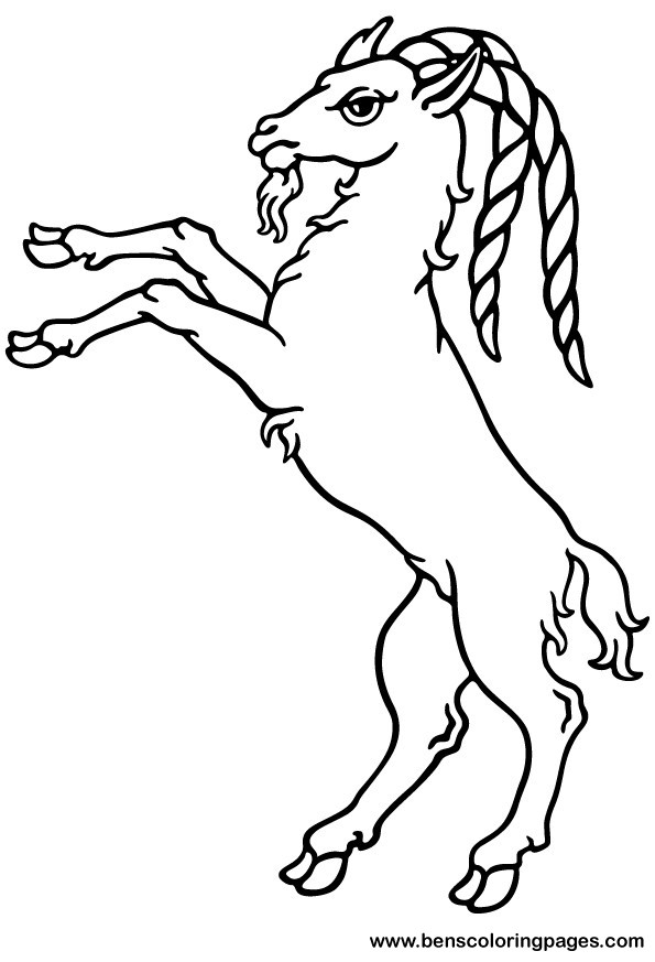595x873 Ram Coloring Pages