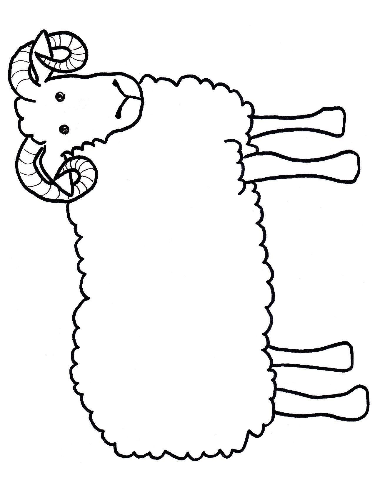 1275x1650 Chinese Ram Kids Drawing Page Ram Craft Template Kids Craft Free