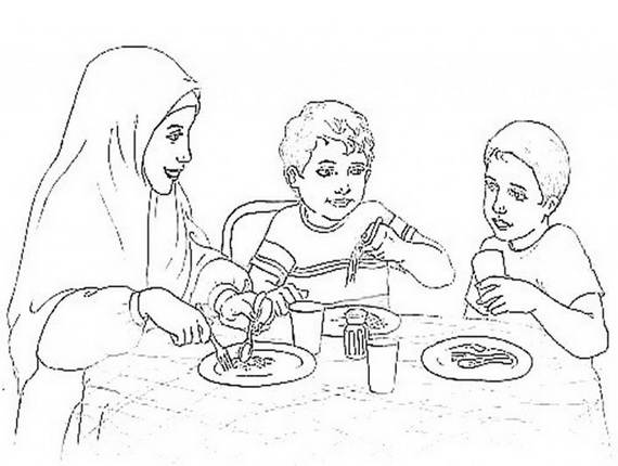 570x430 Ramadan Coloring Pages For Kids