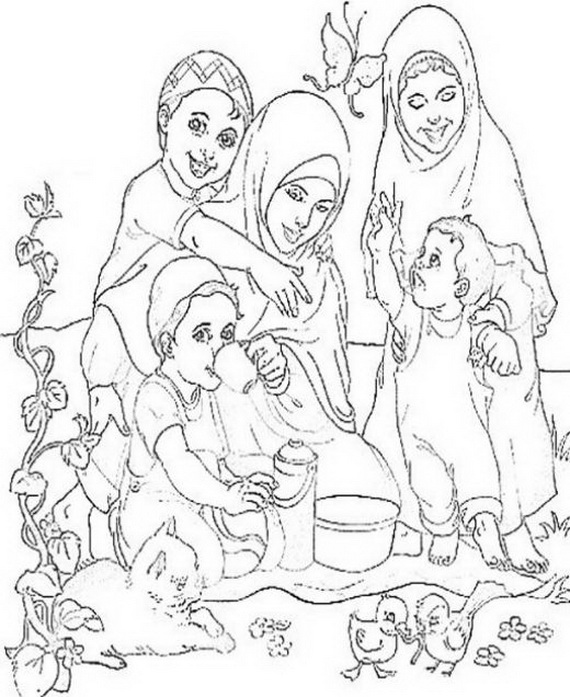 570x697 Ramadan Coloring Pages For Kids Is An Islamic Colouring Activity