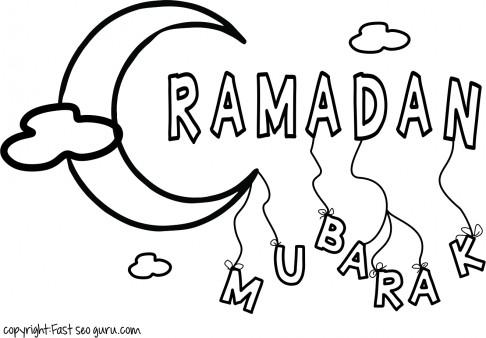 486x338 Ramadan Mubarak Coloring Pages
