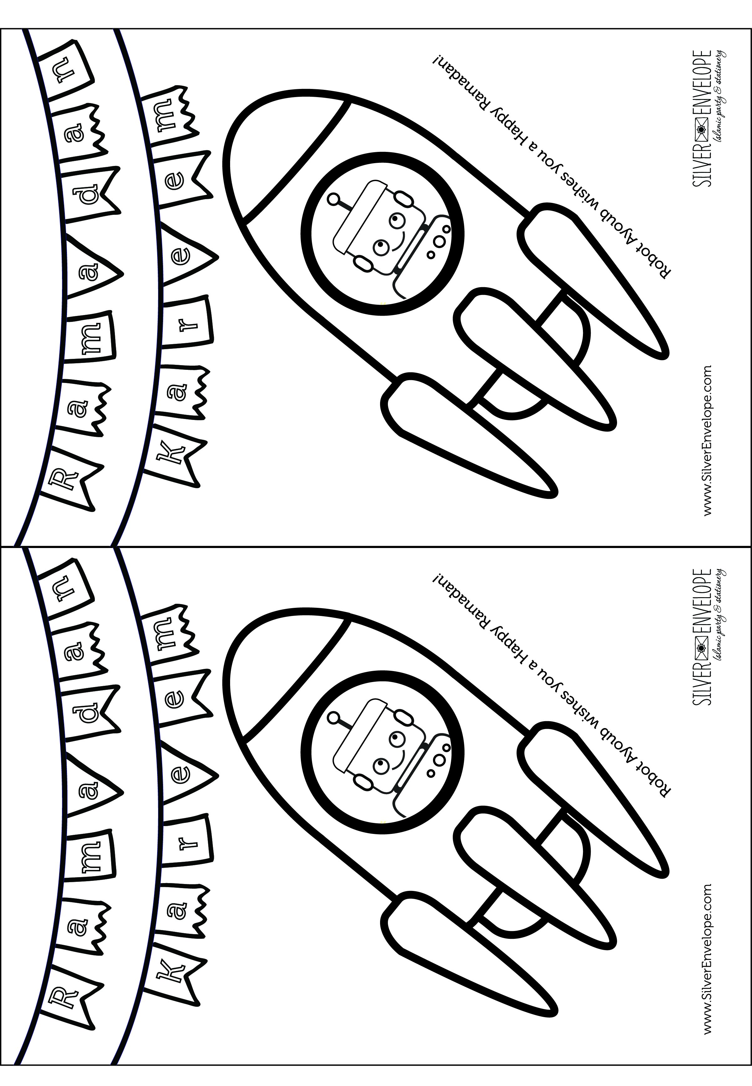 2402x3468 Free Ramadan Coloring Pages! Silver Envelope