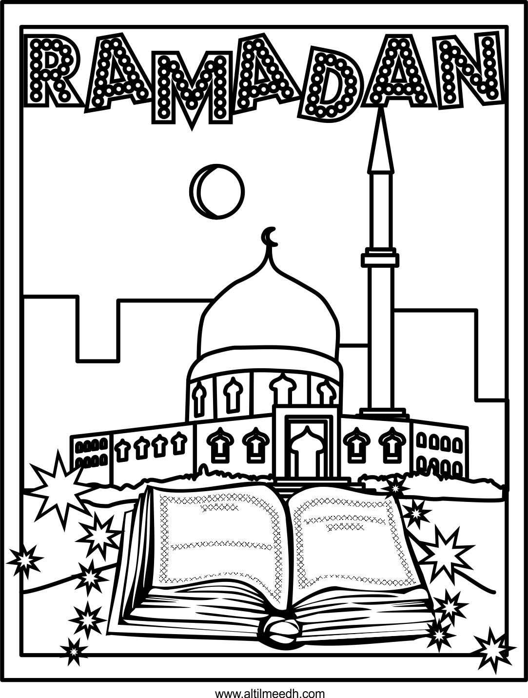 1083x1431 Ramadan Coloring Page