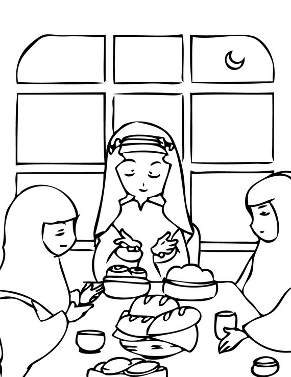 570x738 Ramadan Coloring Pages