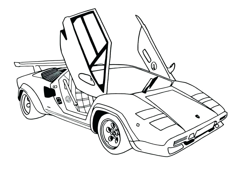 1024x724 Outstanding Supercar Coloring Pages Picture Collection
