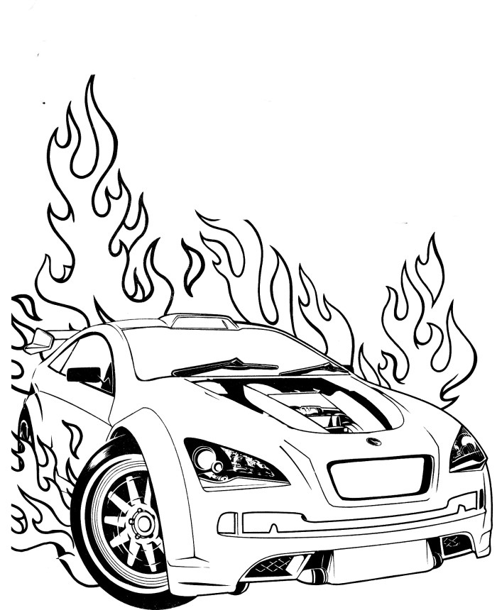 700x860 Car Colouring For Kids