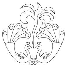 Rangoli Coloring Pages Printable