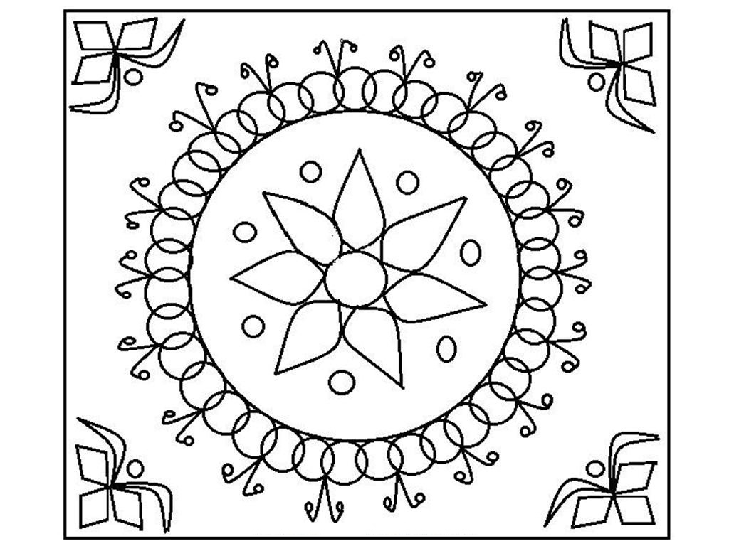 1024x768 Best Of Rangoli Designs Coloring Pages Happy Diwali Gallery