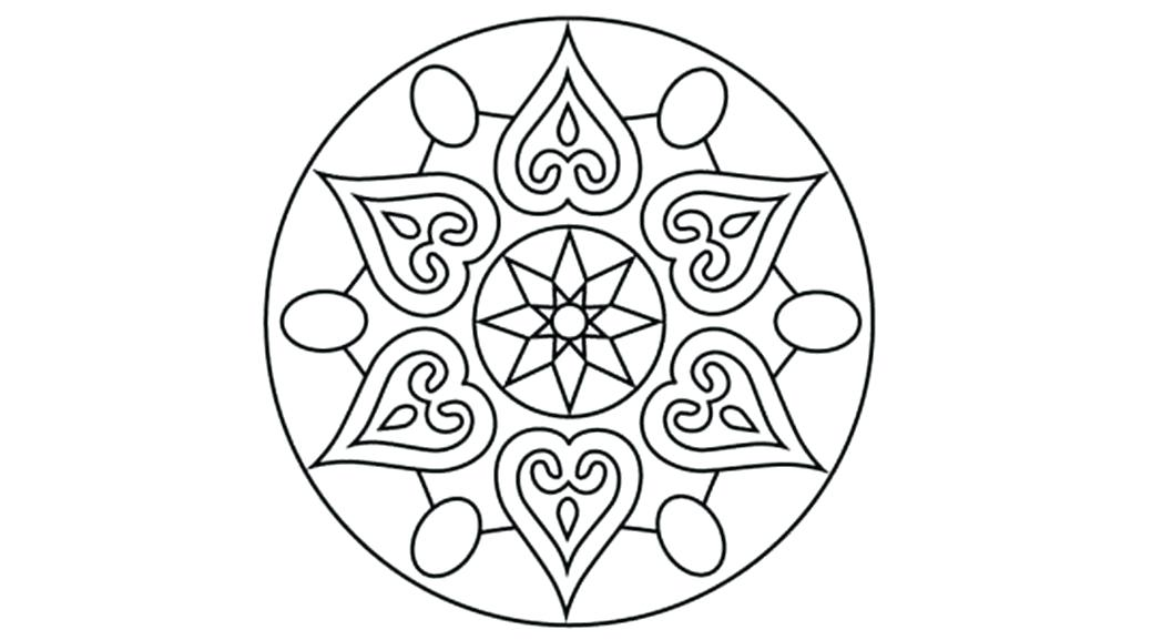 Rangoli Designs Printable Coloring Pages