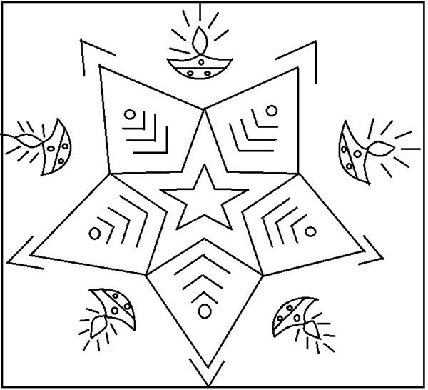 600x546 Printable Simple Rangoli Designs Coloring Pages Coloring Pages