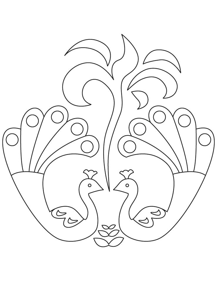 738x954 Rangoli Coloring Pages Coloring Related Posts Easy Coloring Pages