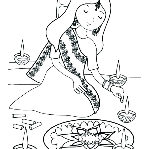 600x600 Rangoli Coloring Pages Easy Coloring Pages Free Printable For Kids
