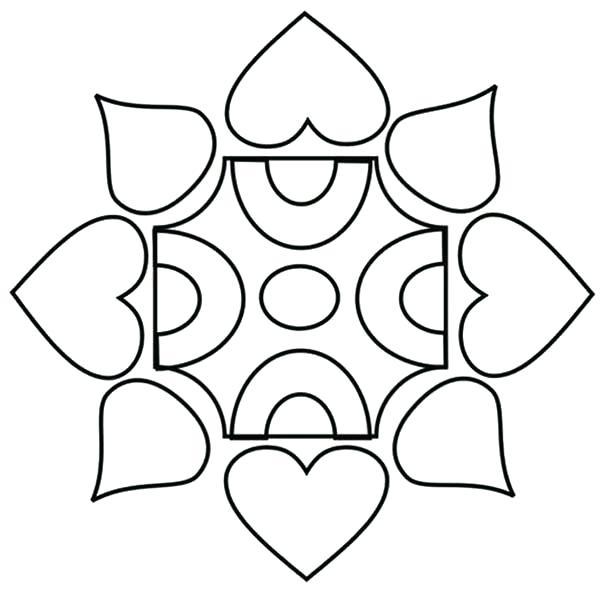 600x593 Rangoli Designs Coloring Page Design Coloring Page Rangoli Designs